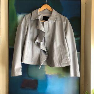 Banana Republic ruffle zip up jacket blazer